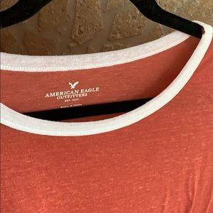 American Eagle Outfitters Tops - AE Red and White Tee